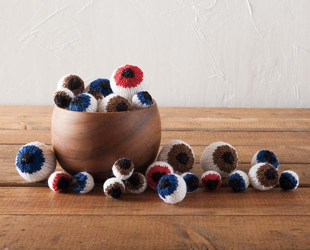 Eyeballs in a Bowl - photo by KnitPicks