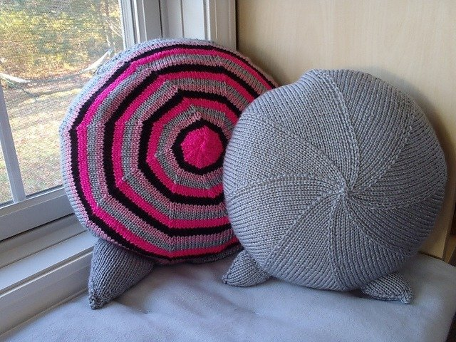 Kittie Pillow Back Side - Stripes or Solid