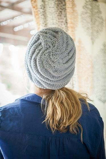 Swirly Hat - back view